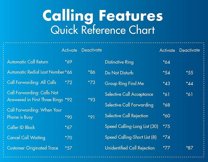 Summary of Phone Features